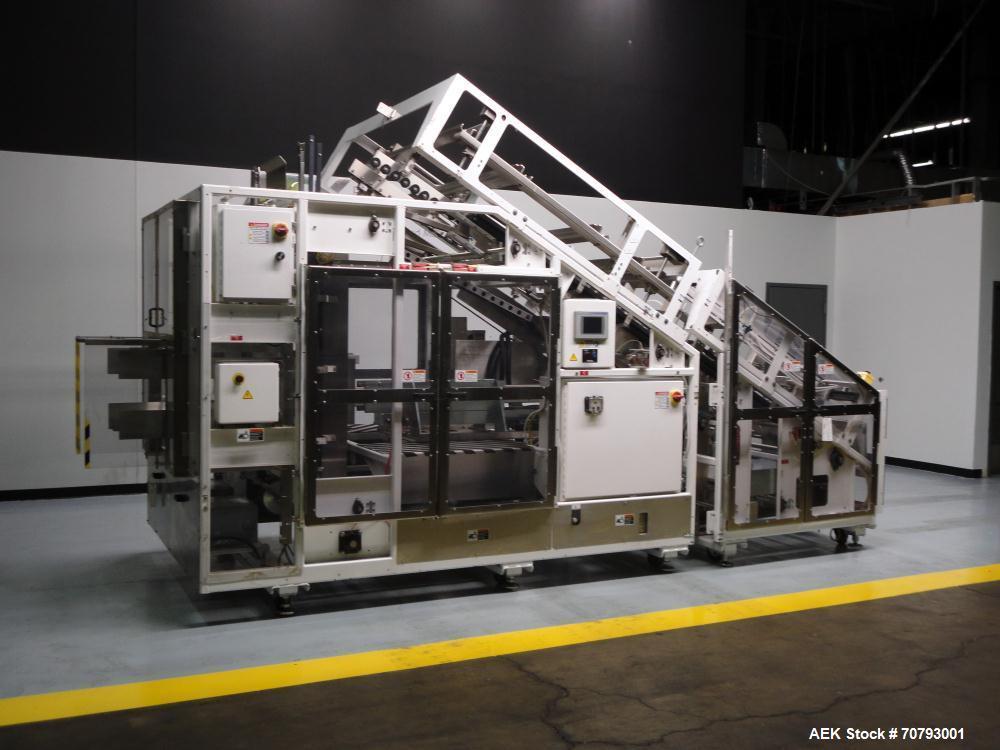Used- Adco Model ATFL-25-V Automatic Hot Melt Glue Tray Former