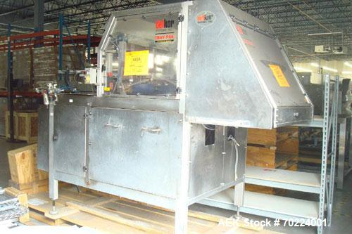 Used-Delkor (Doboy) Model 752 Dual Head Tray Former capable of speeds up to 150 trays per minute. Requires glue system.