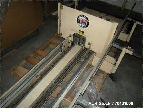 Used-Marq Packaging Model HPT-LF/LH/AB Tray Forming System with extended blank magazine with powered chain drive, AB Dtam HM...