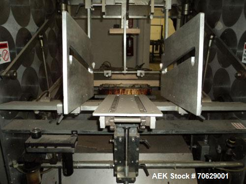 Used-PMS Single Head Tray Erector, Model CF42.  Designed for paperboard/chipboard tarys with glue flaps.  Up to 30 trays per...