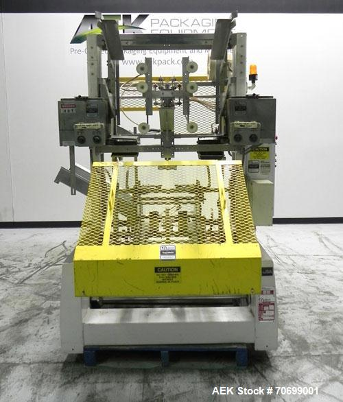 Used- SWF Model 1T4 Glue Tray Former with Lidder. Glue tray former capable of speeds up to 35 trays per minute depending on ...