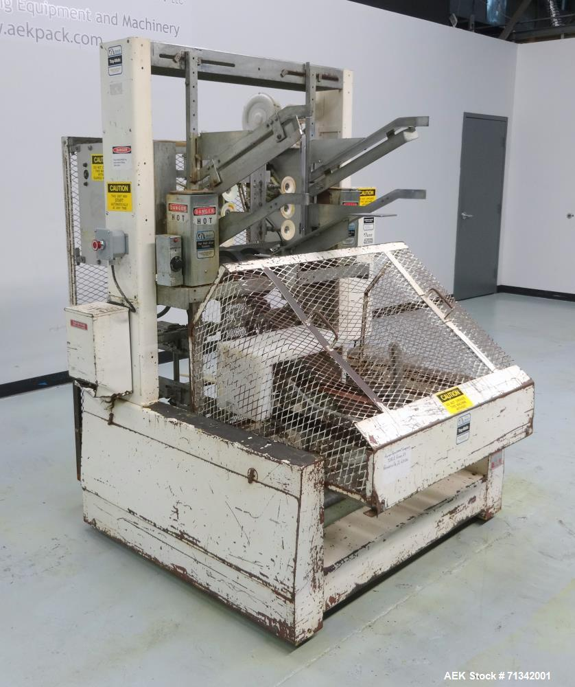 Used- SWF Model 1T4 Automatic Hot Melt Glue Tray Former with Vacuum Pick Off