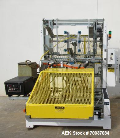 Used- SWF, Model TF600 Tray Erector with Electro Cam Plus 5000 controls and Dynatec hot melt glue unit. Capable of speed up ...
