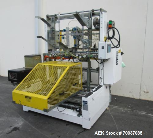 Used- SWF Tray Former, Model TF600 with Electro Cam Plus 5000 controls and Dynatec hot melt glue unit. Capable of speed up t...