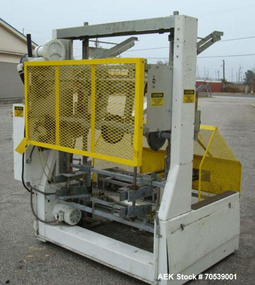 "Used-SWF Model TF600VF Automatic Hot Melt Glue Tray Former.  Tray size range:  length 7"" to 44"" or 178 mm to 1118 mm, width ..."