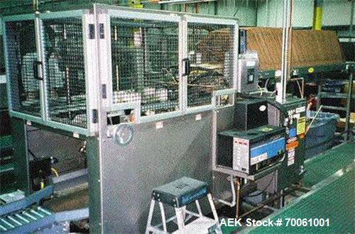 """Used-SWF Padlocker Trayformer Model TF6. Tray former with Nordson 3500 hot melt. Vacuum feed with 10"""" extended hopper. Speed..."""