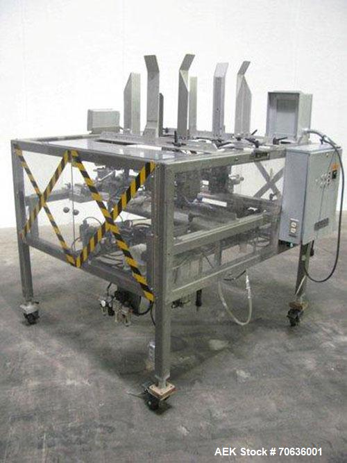 """Used-Dorell Model TE-101 Tray Erector. Designed to run a """"fold and tuck"""" style tray at speeds up to 20 per minute. Maximum t..."""