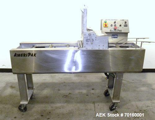 Used- Ameripak Filled Tray Sealer, Model 145. Capable of speeds up to 30 trays per minute depending on tray size, material, ...