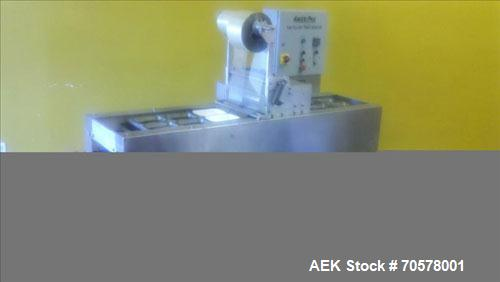 Used-Ameripak Filled Tray Sealer, Model 145.Capable of speeds up to 30 trays per minute depending on tray size, material, an...