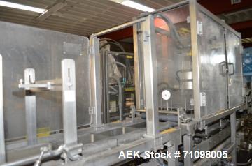 Used- FEMC Model 1192898 3 Head Stainless Steel Tray Filler and Sealer
