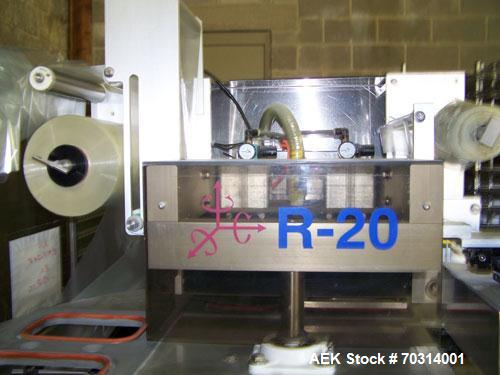 Used-Used: Orics R-20 rotary heat sealer and tray sealer. Roll stock lids, piston filler and lid placer. Set up on 9 x 6 tra...