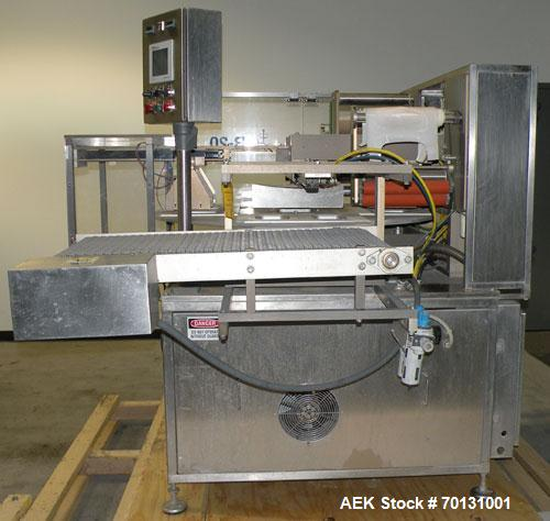 Used-Used: Orics Model R-20 Modified Atmopshere tray sealer with integrated conveying system. Speeds to 13 cycles per minute...