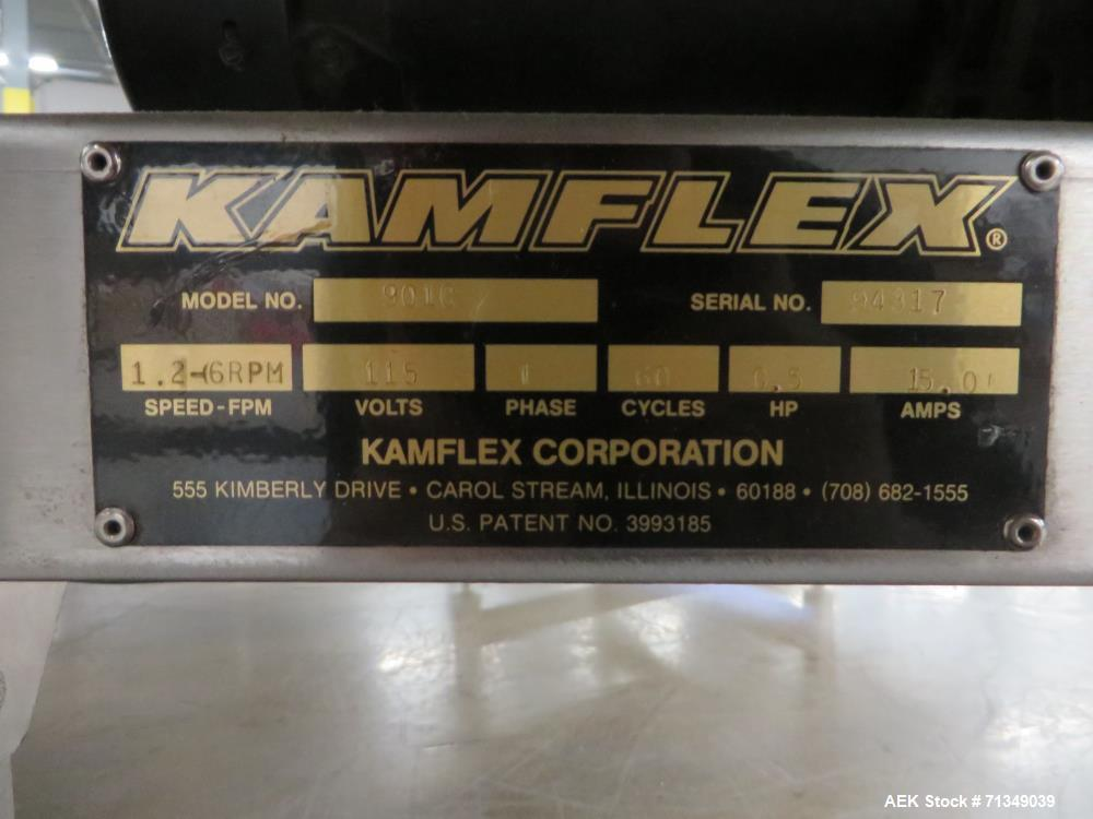 "Used- Kamflex Model 901C 49"" Diameter Accumulation Table"