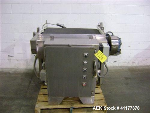 Used- Arrowhead Accumulation Table, stainless steel frame
