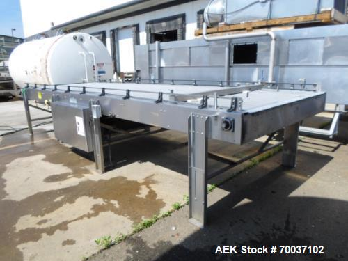 Used- 6' x 20' Barry Wehmiller Accumulation Table with Intralox Belting. Belt is driven by 1HP Sew -Eurodrive motor. Has a p...