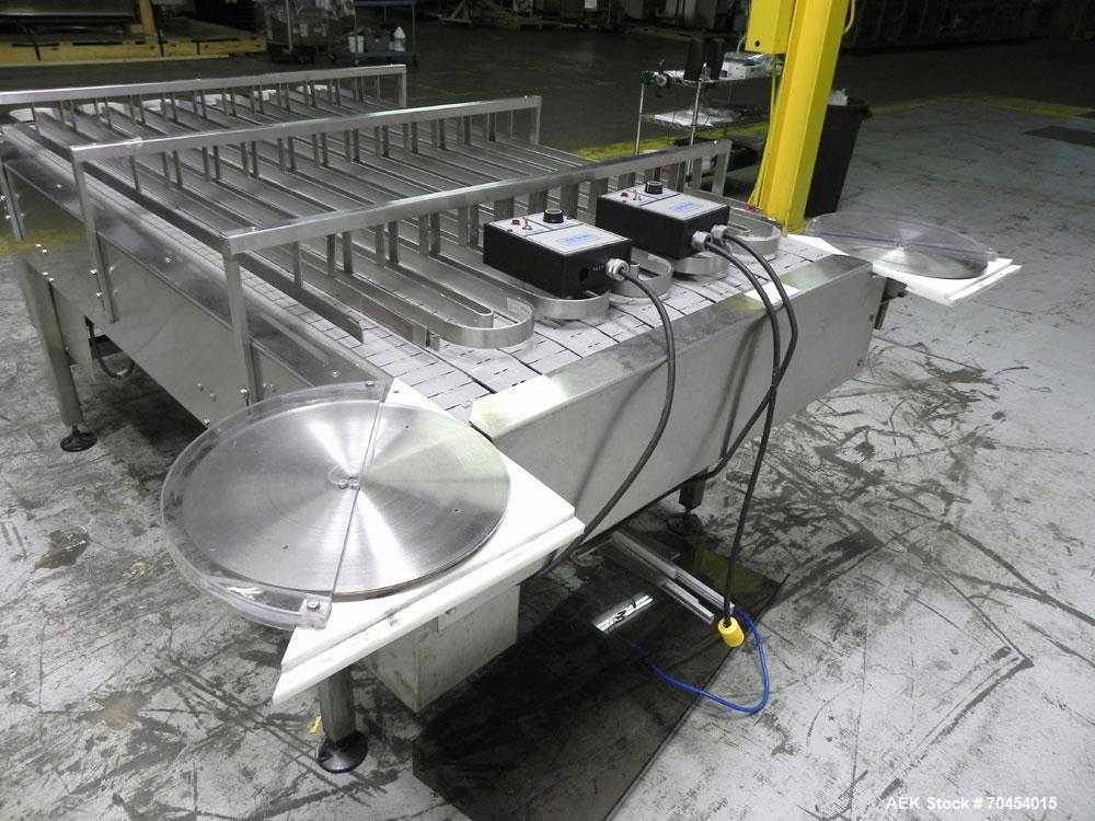 "Used- 40"" x 7' Frame Multi-Lane Accumulation Conveyor"