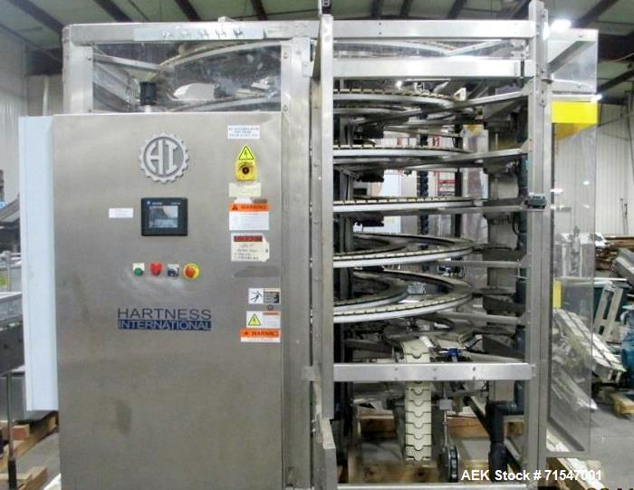 Used- Hartness Model Dynac 6400Q Spiral First-In First-Out Accumulation Line
