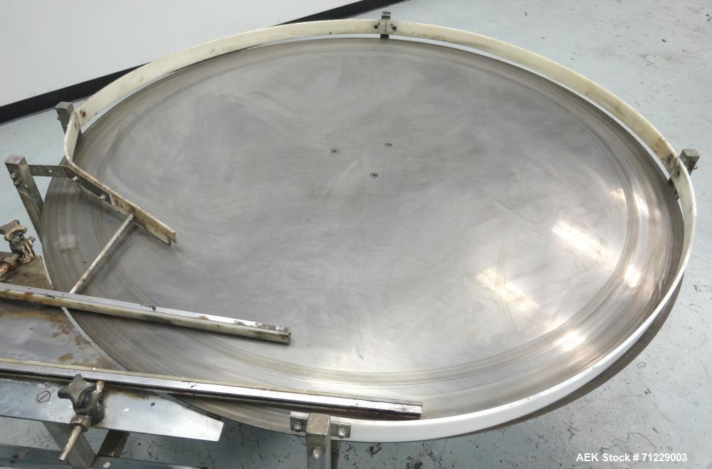 Used- Ideal-Pak Model UT-60 II Stainless Steel Accumulation Table