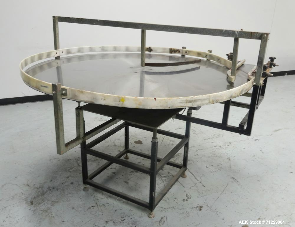 Used- Ideal-Pak Model UT-60 II Stainless Steel Accumulation Table