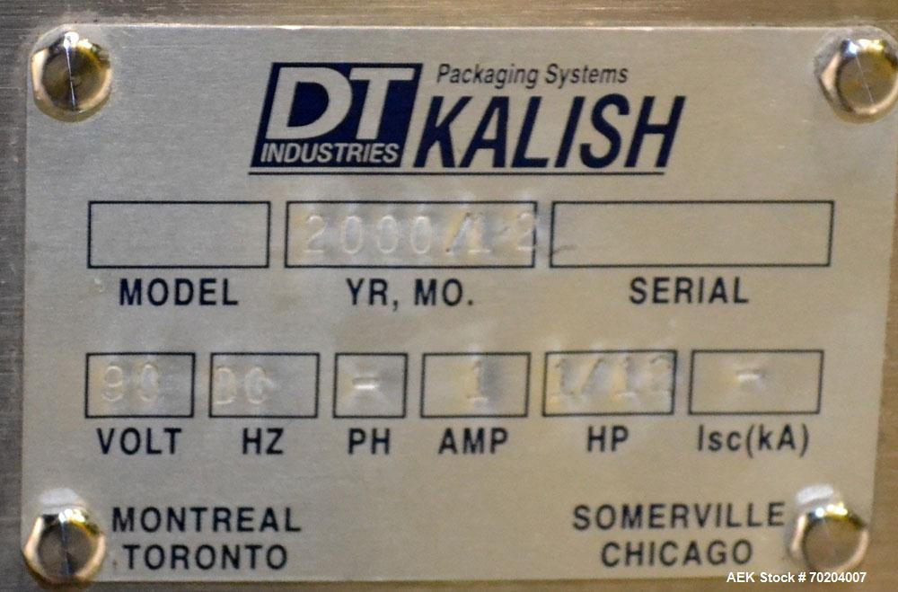 "Used- DT Kalish Bi-Directional Accumulation Table Model TP 01. Table has a 36"" wide x 66"" long accumulation area. Machine ha..."