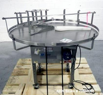 "Used- 48"" Lakso acccumulating table, model 75, serial# 231."