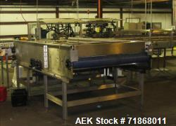 "Used-Hartness International accumulation table, mn 60X120, (6) 8"" plastic belts, with relay logic control"
