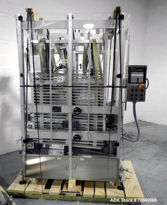 Used- Pester Pewo-Vertac Vertical Carton Accumulator and Buffer System