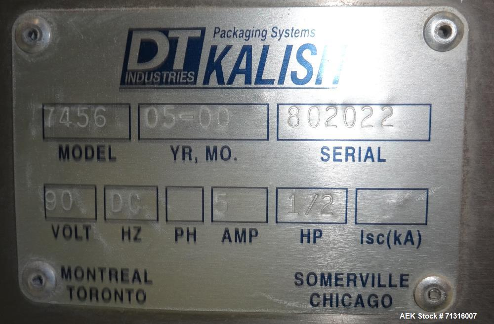 Used- Kalish Model 7440 Kalisort Bulk Bottle Unscrambler