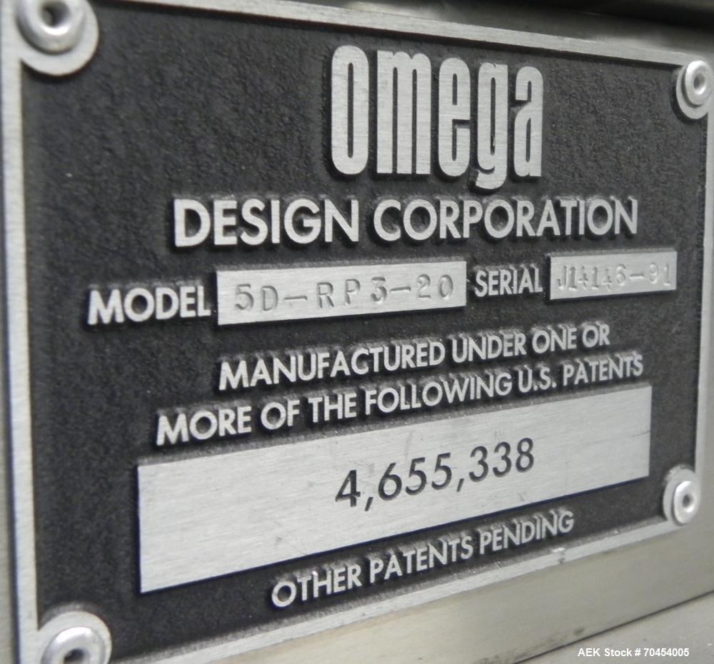 Used- Omega Design Model 5D-RP3-20 Bulk Bottle Unscrambler