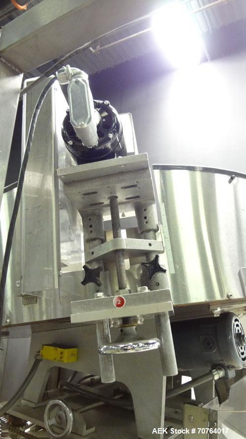 Used- New England Machinery Model NEHCL-350 Bulk Bottle Unscrambler. Machine is capable of speeds up to 350 bottles per minu...