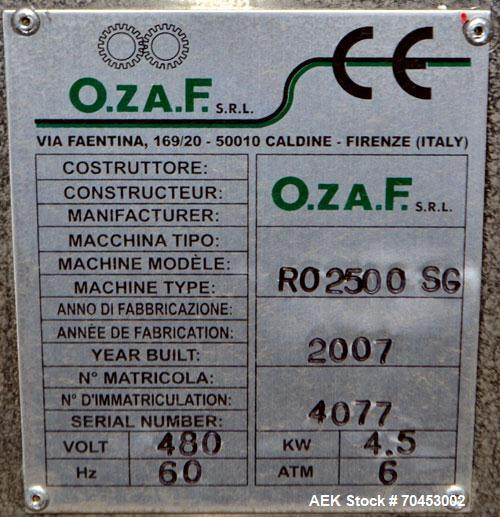 Unused- Ozaf Automatic Bottle Unscrambling & Pucking System, Model RO2500SG