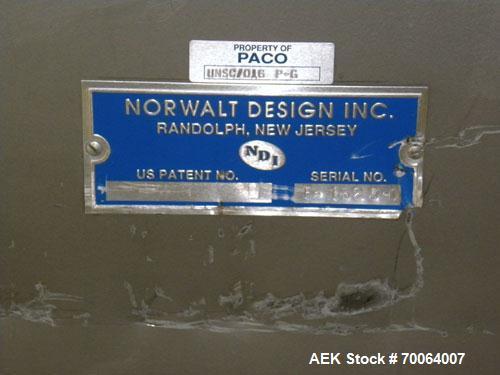 Used- Norwalt Design/NDI Bulk Bottle Unscrambler, Model LW48
