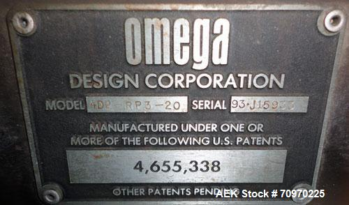 Used- Omega Design 4D2RP320 (20) Head Rotary Bottle Unscrambler
