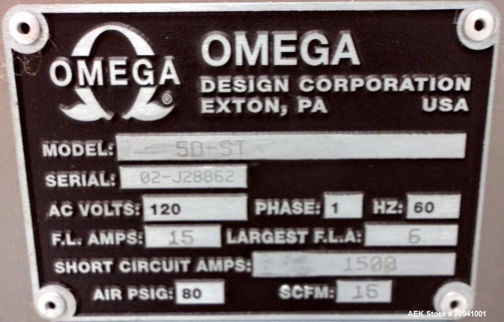 Used- Omega Design Model 5D-ST Bulk Bottle Unscrambler with Hopper Elevator Mode