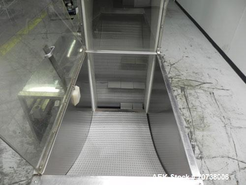 Used- Pace Model M300 Pharmaceutical Bottle Unscrambler capable of speeds up to 250 containers per minute. Has bulk elevator...