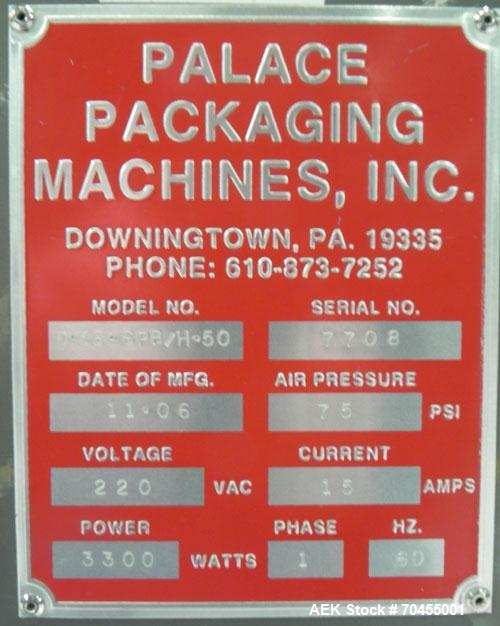 Used- Palace Packaging Model D-36-SPB/H-50 Bulk Bottle Unscrambler