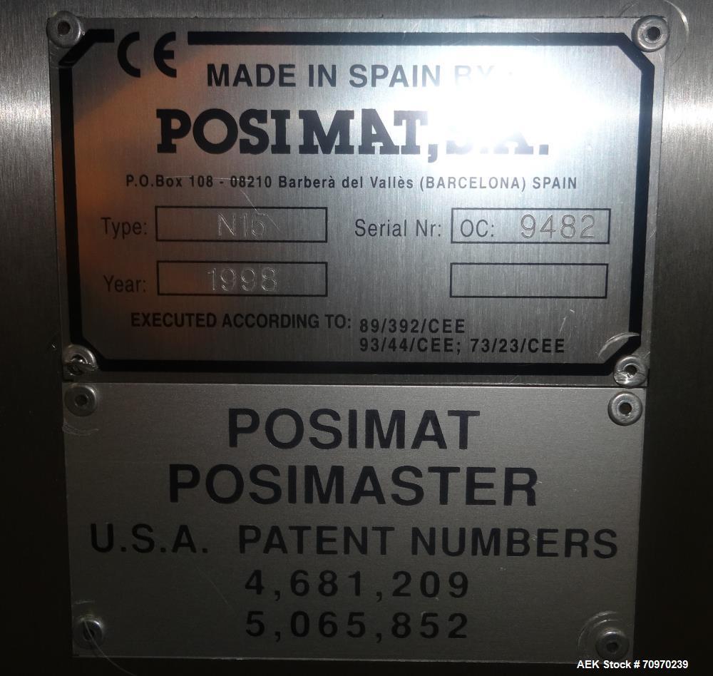 Used- Posimat N15 Rotary Bottle Unscrambler