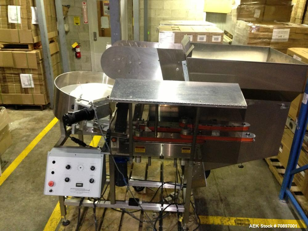 Used-30 Mini Bottle Unscrambler, Model STS-KKP