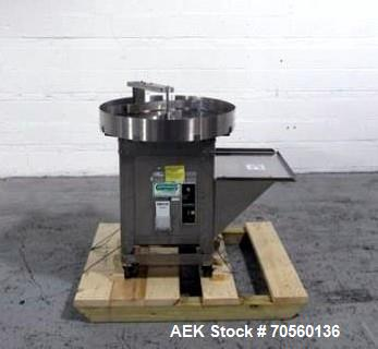 "Used- Garvey 30"" diameter accumulation table, model 1546, stainless steel construction, 1/4 hp motor with speed control, 115..."