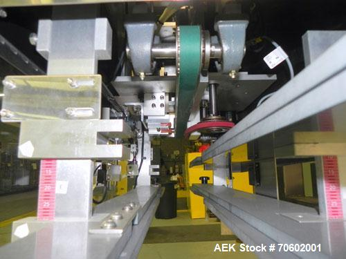 Used- Palace Packing Model B3B-PO-A Inline Bottle Orienter. Machine is rated at speeds up to 300 bottles per minute. Does ha...