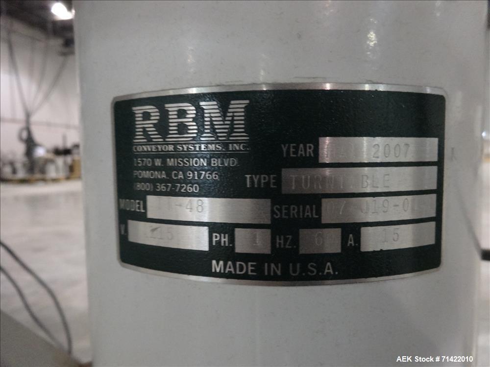 Used- RBM Model TT-48 Rotary Turn Table