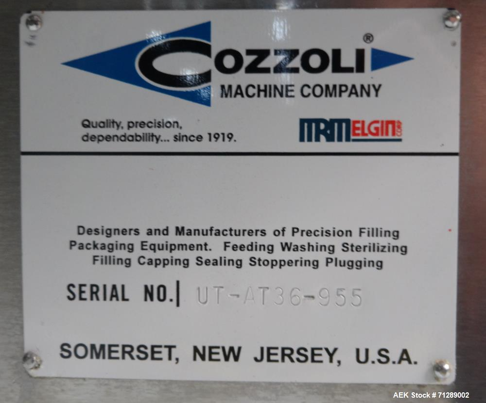 """Used- Cozzoli Machine Company Rotary Unscrambling/Accumulation Table, Model UT-AT36. 36"""" Diameter. Has adjustable speed cont..."""