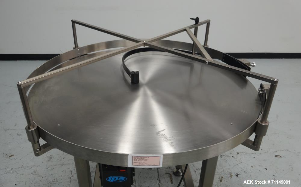 Used- Stainless Steel Rotary Accumulation Table