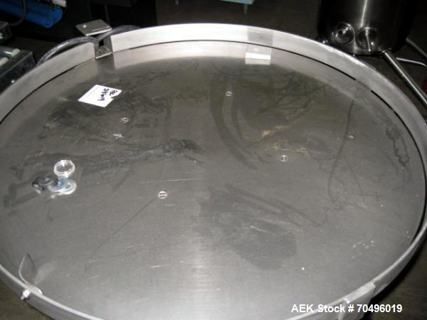 "Used- Stainless Steel 24"" Diameter Accumulation Table"