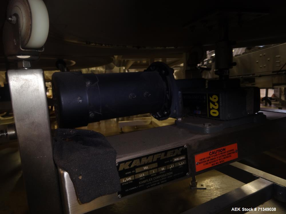 "Used - Kamflex Model 901 61"" Diameter Accumulation Table"