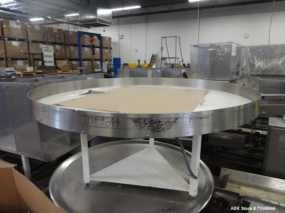 """Used- Emerson Motor 72"""" Diameter Accumulation Table"""