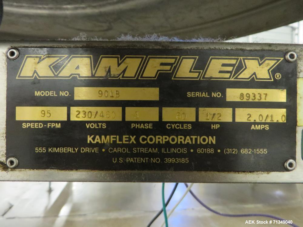 "Used- Kamflex Model 901B 60"" Diameter Accumulation Table"