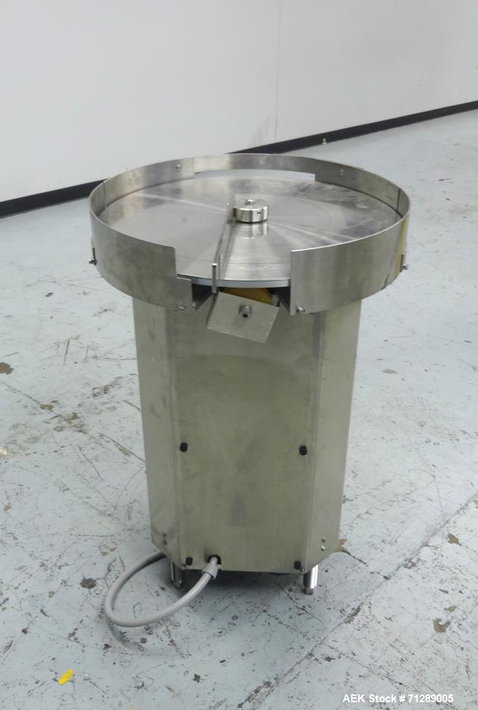 Used- Cozzoli Machine Company Model AT24-957 Rotary Accumulation Table