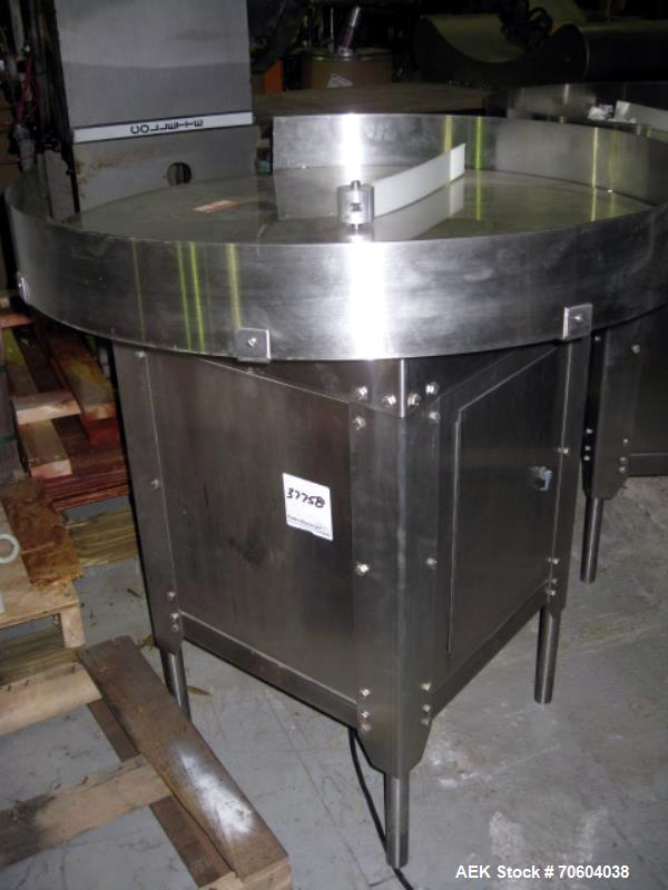 """Used- Garvey 36"""" diameter stainless steel accumulation disc.  Previous use pharmaceutical application."""