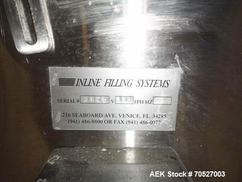 "Used- Inline Systems 30"" Diameter Rotary Stainless Steel Accumulation Table. Machine has a plastic sorting disc, variable sp..."